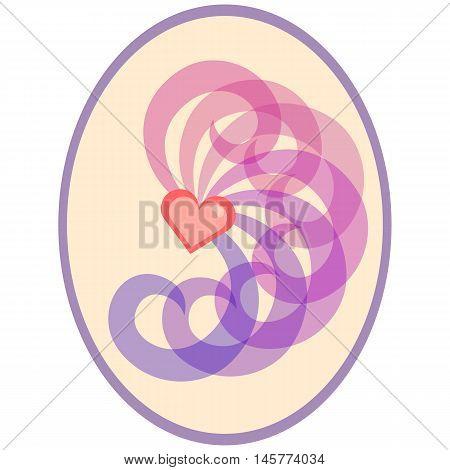 Pastel bisexual symbol. Nice and simple illustration