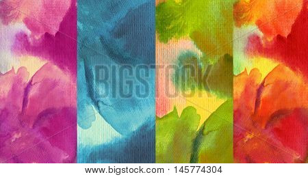 Collection of abstract watercolor painted background
