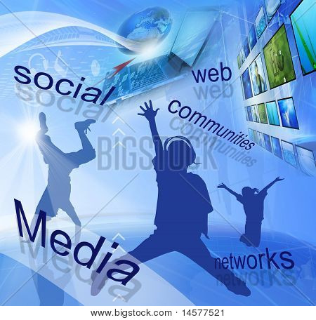 Sociale Media netwerken (global en communicatieconcept)