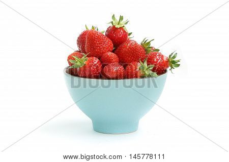 ripe fresh flavor strawberry on white background