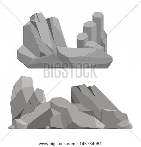 Rocks and stones vector illustration
