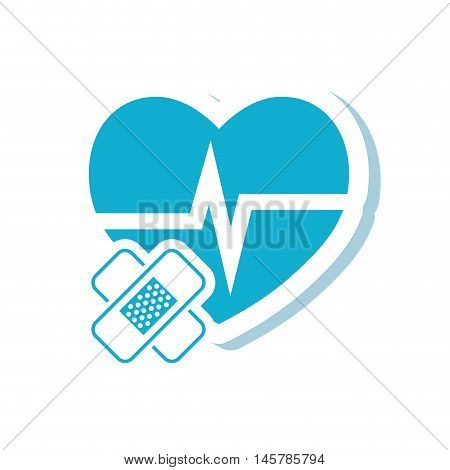 heart bandage medical health care icon. Flat and Isolated design. Vector illustration