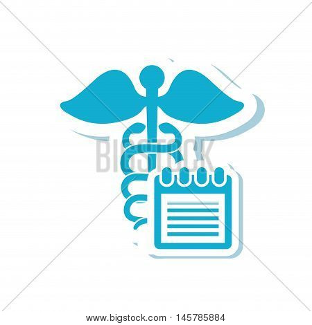 caduceus  medical health care icon. Flat and Isolated design. Vector illustration
