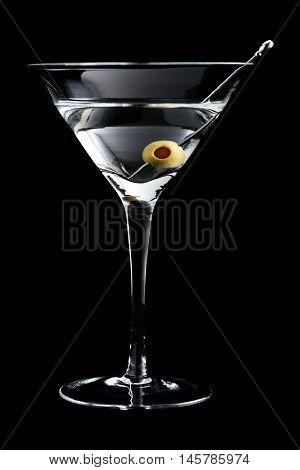 Vodka Martin Cocktails On Black Background