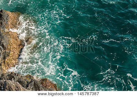 Sea blue fresh ocean water, pattern.
