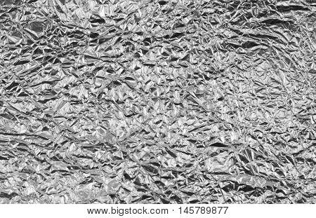 Shiny Silver Gray Foil Texture