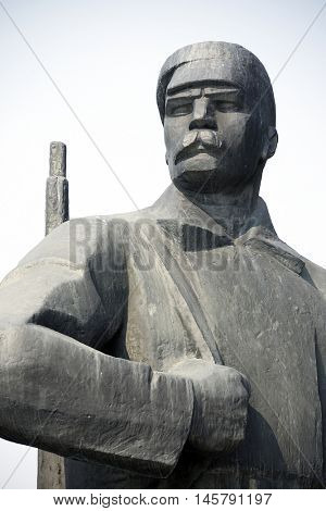 NOVOSIBIRSK, RUSSIA - JULY 30, 2016: Monument to Vladimit Ilici Lenin on the main square of Novosibirsk, Russian Federation