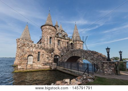 Boldt Castle in the summer on the St. Lawrence Seaway
