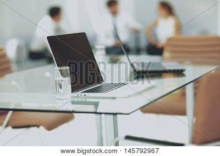 Modern office interior.  Working process