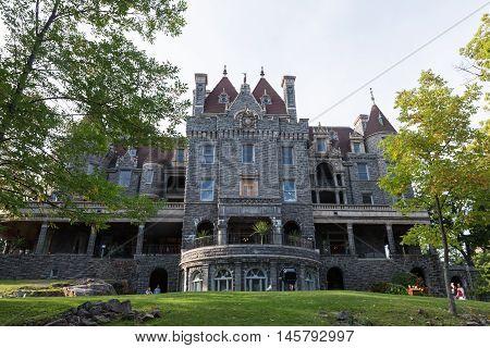 Boldt Castle in the summer season on the St. Lawrence Seaway