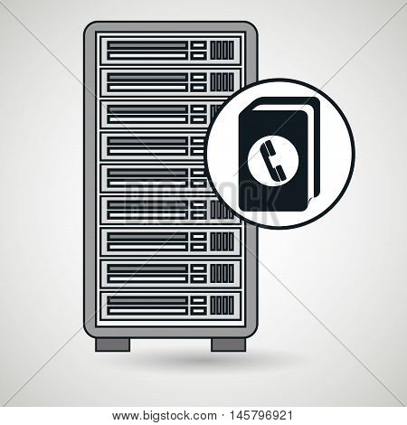 server computer directory vector illustration eps10 eps 10