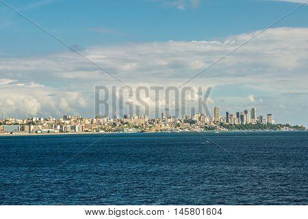 Salvador skyline in Bahia, Brazil