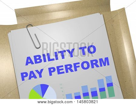 Ability To Pay Perform Concept