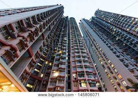 Apartment building from low angle