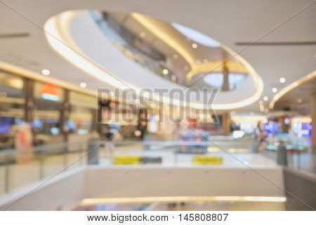 Blurred image of beautiful shopping mall background