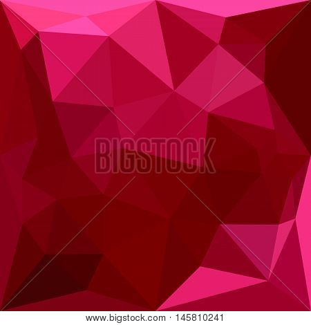 Low polygon style illustration of a firebrick red abstract geometric background.