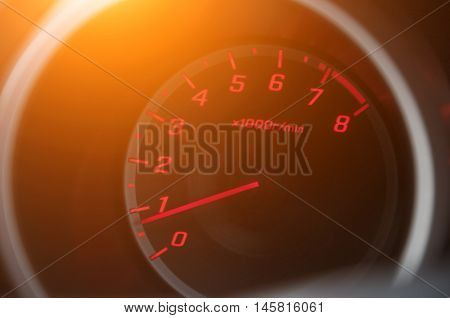 Car Control Panel.Car dashboard modern automobile control panel.