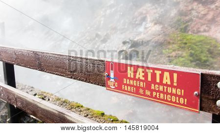 Danger - Boiling Watter Sign