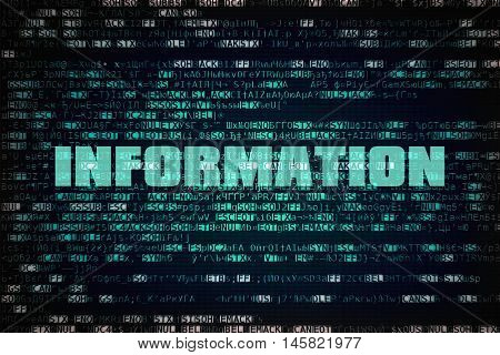 Word Information written over unreadable encrypted code