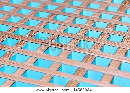 Abstract board background. Colorful wooden perpendicular lines