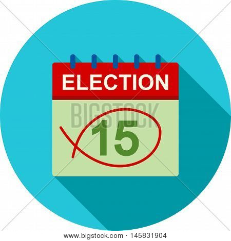 Day, vote, election icon vector image.Can also be used for elections. Suitable for web apps, mobile apps and print media.