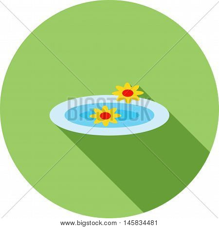 Flowers, float, spa icon vector image. Can also be used for spa. Suitable for mobile apps, web apps and print media.