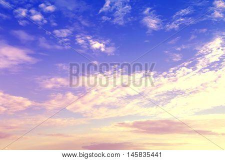 Colorful sunset. Toned image. Background of nature