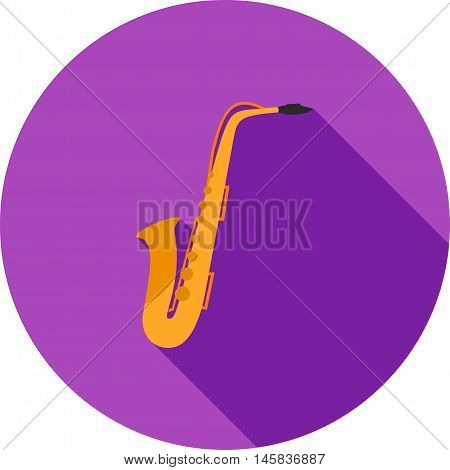 Saxophone, instrument, jazz icon vector image. Can also be used for celebrations. Suitable for web apps, mobile apps and print media.