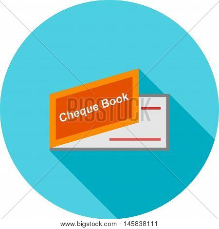 Cheque, book, payment icon vector image.Can also be used for finances trade. Suitable for web apps, mobile apps and print media. vector