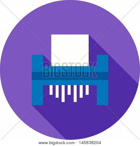 Paper, shredder, business icon vector image.Can also be used for finances trade. Suitable for web apps, mobile apps and print media. vector