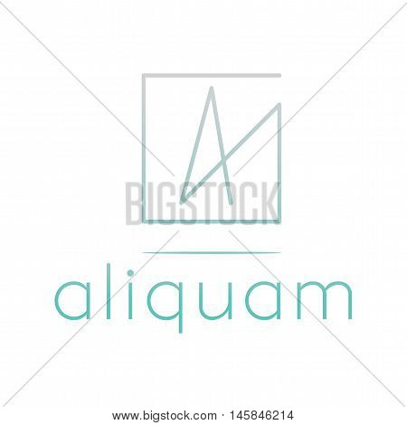 Logo. Generic logo design. Pastel vector logo