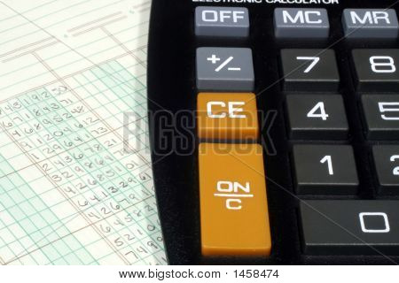 Calculator And Ledger Paper