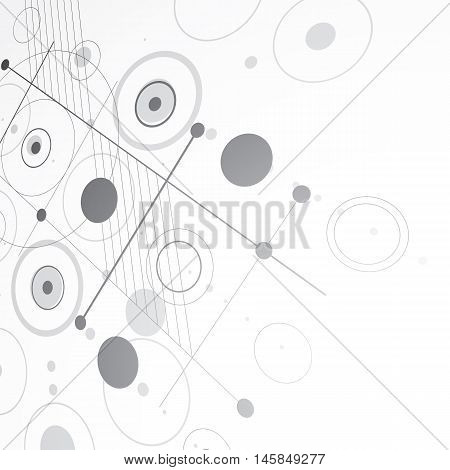 3d vector abstract monochrome background created in Bauhaus retro style. Dimensional modern grayscale geometric composition can be used as templates and layouts.