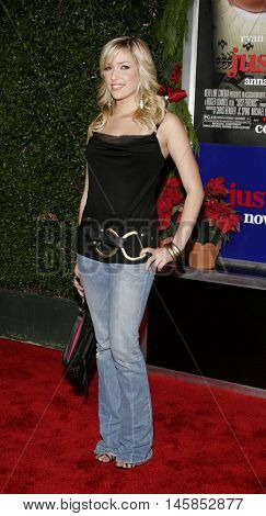 Kristin Cavallari at the Los Angeles premiere of 'Just Friends' held at the Mann Village Theatre in Westwood, USA on November 14, 2005.
