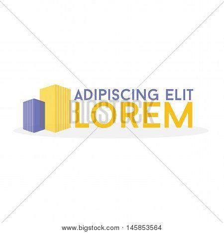 Logo. Sky rise building logo vector design.