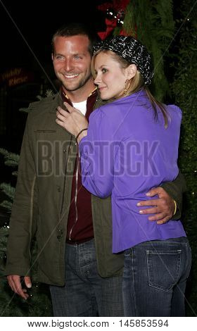 Bradley Cooper and Bonnie Somerville at the Los Angeles premiere of 'Just Friends' held at the Mann Village Theatre in Westwood, USA on November 14, 2005.