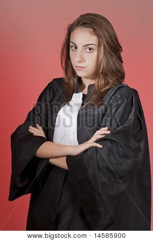 Serious Young Lawyer
