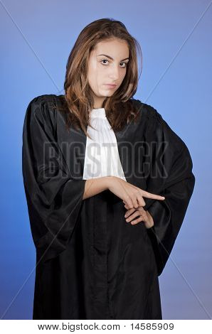 Young Judge Enforcing Law