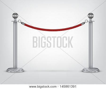 Barrier rope isolated on a white background