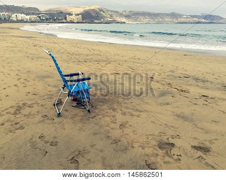 Chair Alone On The Beach