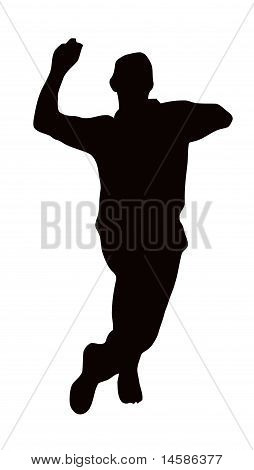 Sport Silhouette - Bowler Run-up