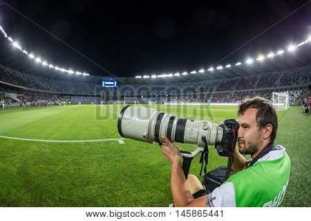 Photographer During The  Uefa Europa League Game
