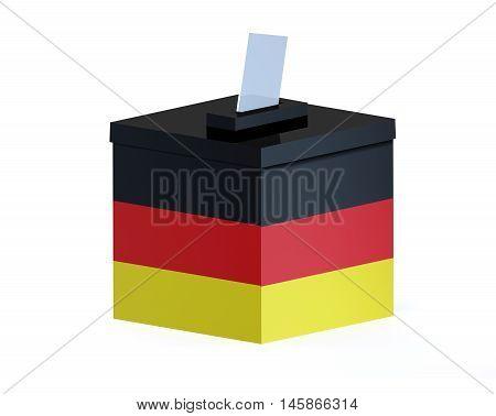 German election ballot box , 3d illustration