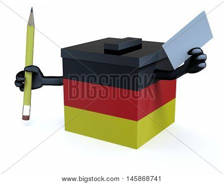 German Ballot Box Cartoon