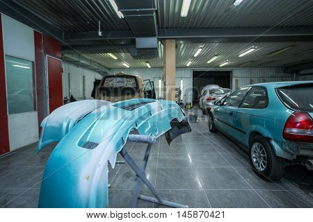 preparation for painting cars bumper shop Body Repair Body Repair Workshop