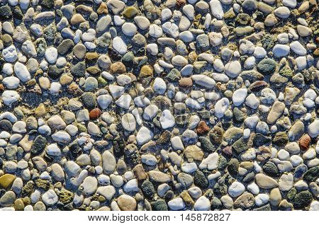 Pebbles on the Beach, naturally occurring in the figures.