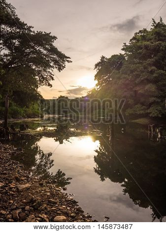 Unseen Thailand Nature Mountains River and Sky at Kaeng Krachan National Park, Phetchaburi Province, Thailand
