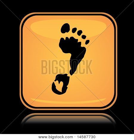 Yellow square icon foot print