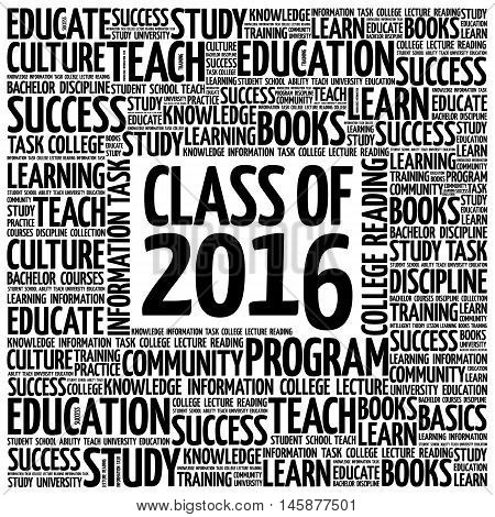 Class Of 2016 Word Cloud