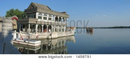 The Pagoda Imperial  Boat On The Lac, Summer Palace, Beijing, China, Panorama